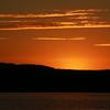 Warm sunset over Nanaimo