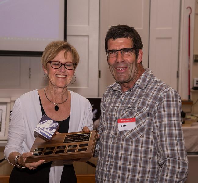 John Young winning the Jan Blackbourn award