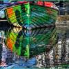 Rainbow Row Boat