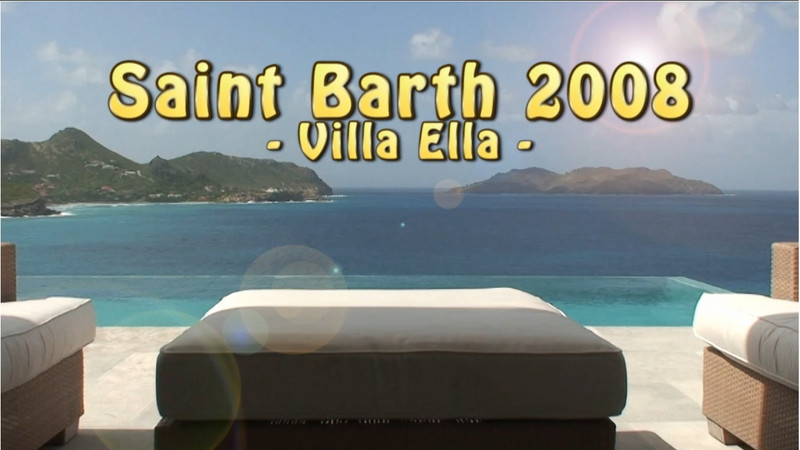 Visit of the villa Ella we were in. Very nice panoramic views on the airport and the Saint Jean Bay.