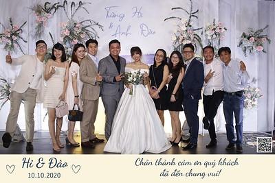 Hi & Dao wedding instant print photo booth @ Gala Center Hoang Van Thu | Chụp hình in ảnh lấy liền Tiệc cưới | Photobooth Saigon