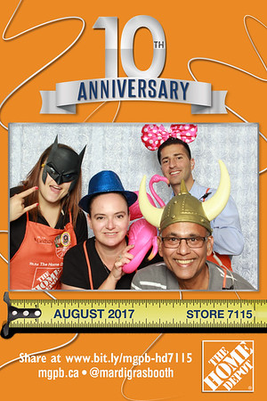 Photo Strips from Home Depot 7115 10th Anniversary Celebration