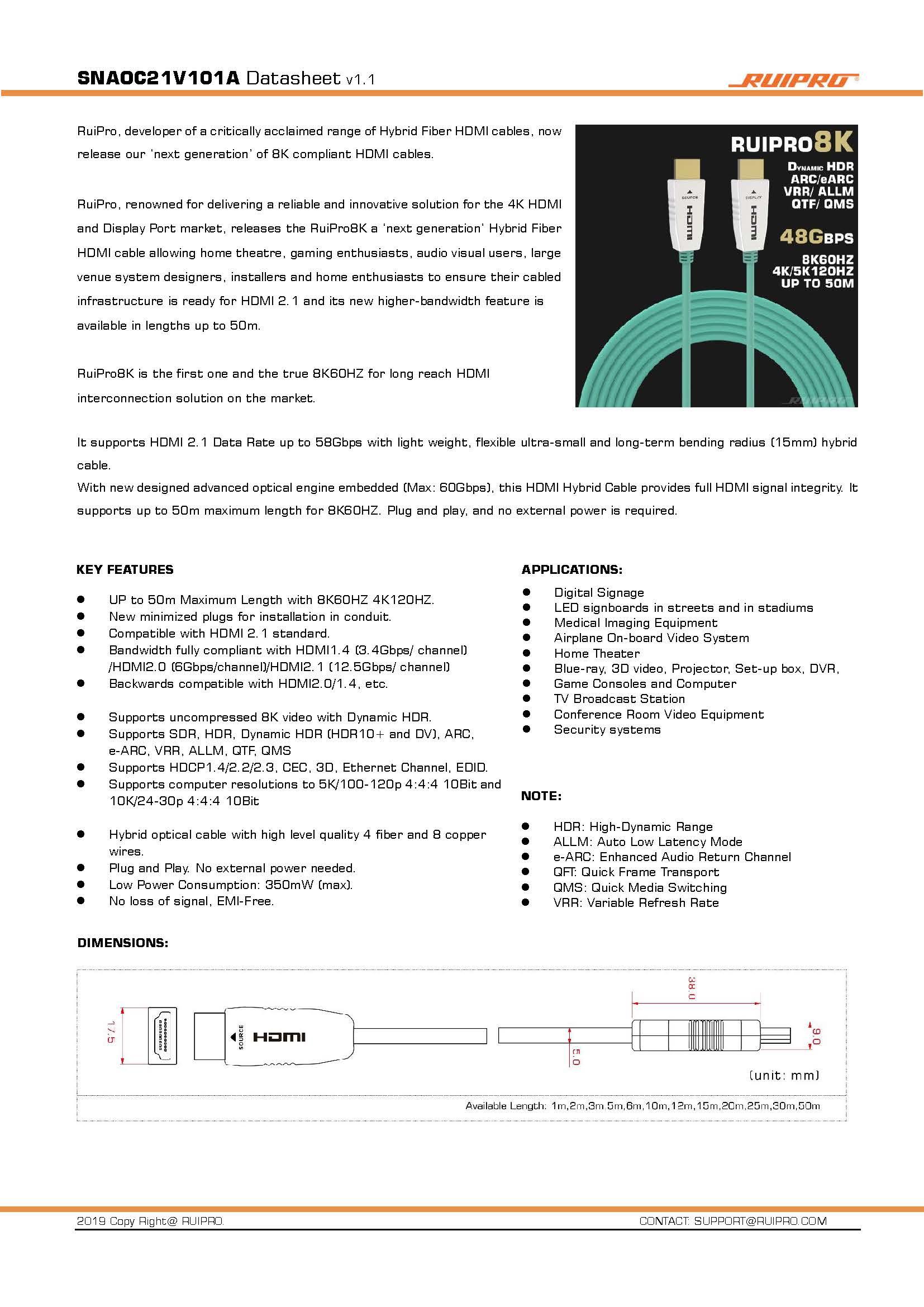 MundoAudio Zaragoza - Página 7 RUIPRO8K%20HDMI%202.1%20CABLES%20-%20DATA%20SHEET_Page_1