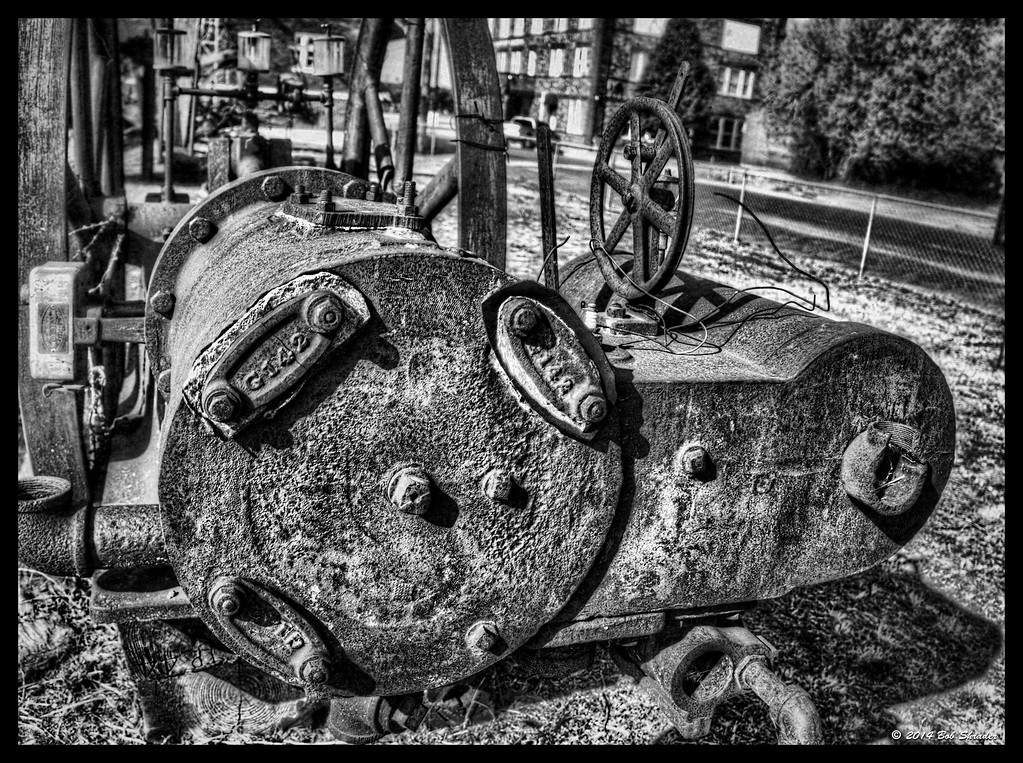Antique Machinery in B&W
