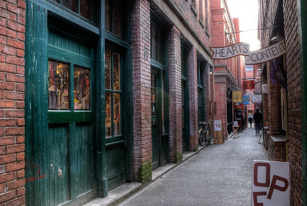 Chinatown - Canada's Narrowest Street - Victoria BC Canada