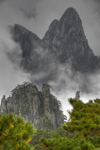 De gule bjerge i Kina
