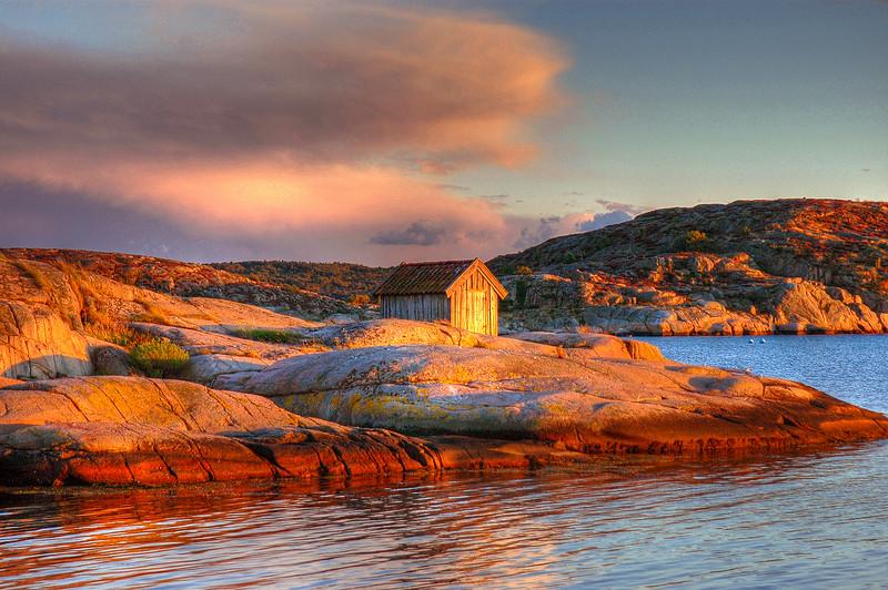 Aftenstemning ved Grebbestad i Sverige