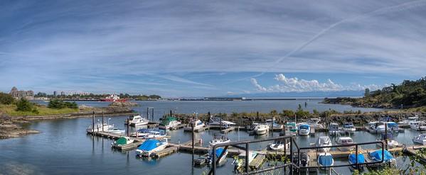 Victoria Harbor - Panorama - Victoria, Vancouver Island, BC, Canada