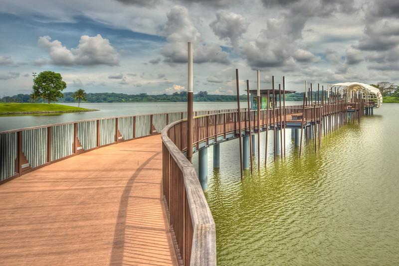 Walkway at Lower Seletar Resevoir Singapore