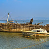Boats in Sewri Bay Mumbai