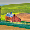 A little Red Barn in the Palouse region  of Washington State. 7 exposures at 1 stop each.