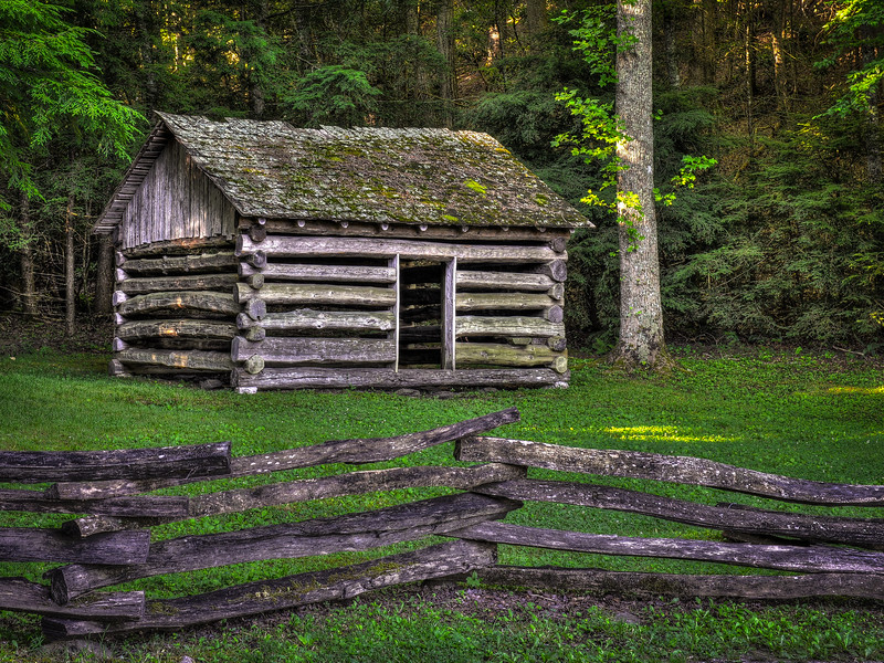 2016 06 30 Cades Cove HDR Houses DSC_8592_3_6_tonemapped