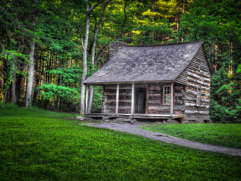 2016 06 30 Cades Cove HDR Houses DSC_8627_28_31_#1_Painterly 4