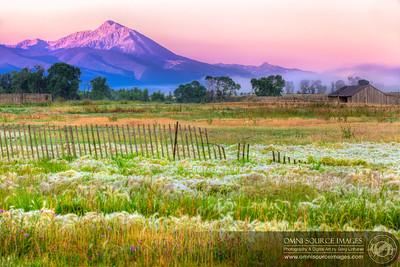Montana Farmland Sunrise HDR