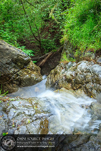 HDR Matt Davis Trail Waterfall - Mt Tamalpias