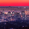 Red Oakland Twilight - Super-HD Panorama. (17,844 x 4461 pixels/300dpi).
