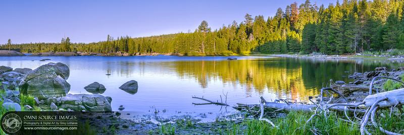 Lake Alpine Early Morning Super-HD Panorama. (16,395x5465 pixels/300dpi).