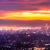 Oakland-SF Dynamic Sunset - Super-HD Panorama (16,482x5494pixels/300dpi)