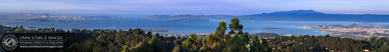 San Francisco Bay Area Morning - SuperHD Panorama (38,975 x 5272 pixels/300dpi Original RAW file)