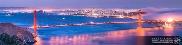 San Francisco Bay Area Evening Twilight Super-HD Panorama