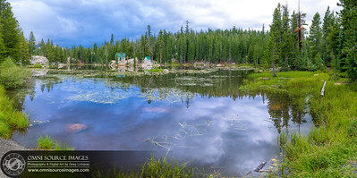 Mosquito Lake Sunrise - HD Panorama. (9,069x4518 pixels/300dpi). Stanislaus National Forest - Hwy 4 Ebbett's Pass Scenic Byway.