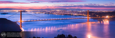 San Francisco Bay Area Sunrise - SuperHD Panorama (15,265x5088pixels/300dpi/3:1). Created from six, overlapping vertical exposures and blended into one seamless image.