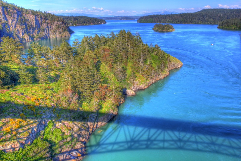 Deception Pass, Washington as seen with HDR by Nick Shiflet
