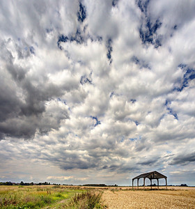 Stow Fen Barn and Sky