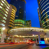 The Really Big Ring<br /> This is a wider view of the Pedestrian Ring at Smith Street & 1500 Louisiana Street in downtown Houston. It a great place of converging lines and colors.