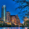 A Small Part of Austin<br /> Almost every large city looks cool at night. The bright lights against the dark background of the night sky give it a majestic feel. Put a river or ocean in front of it and it looks even better. This is just a small part of the Austin, Texas skyline just after sunset. The sky looks almost black to the eye, but the accumulated light during the time exposure gives it a slightly brighter blue.