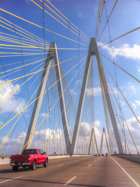 """TheFred Hartman Bridge<br /> TheFred Hartman Bridgeor """"Baytown Bridge"""" is 2.6 miles long and is one of only three such bridges in the state of Texas."""
