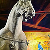 War Horse<br /> Several years ago, I had the opportunity to view a collection from the Terracotta Army. Photos were not allowed but pictures simply do not do them justice. The closest you might come to their grandeur are the statues you find at the PF Changs restaurant. <br /> <br /> A quick history lesson from Wikipedia...<br /> <br /> The Terracotta Army is a collection of terracotta sculptures depicting the armies of Qin Shi Huang, the first Emperor of China. It is a form of funerary art buried with the emperor in 210–209 BC and whose purpose was to protect the emperor in his afterlife, and to make sure that he had people to rule over. The figures include warriors, chariots and horses. Current estimates are that in the three pits containing the Terracotta Army there were over 8,000 soldiers, 130 chariots with 520 horses and 150 cavalry horses, the majority of which are still buried in the pits!