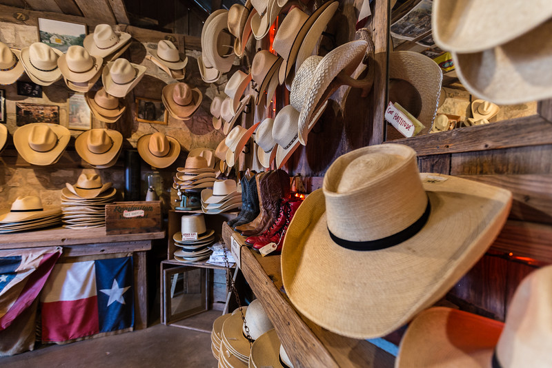 Snail Creek Hat Co. in Luckenbach, Texas. Photo by Tim Stanley.