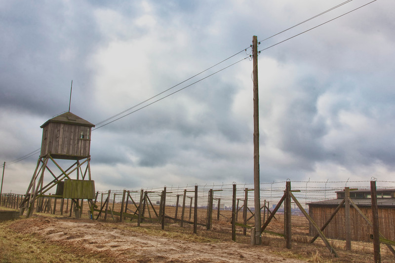 A wooden guard tower - Majdanek