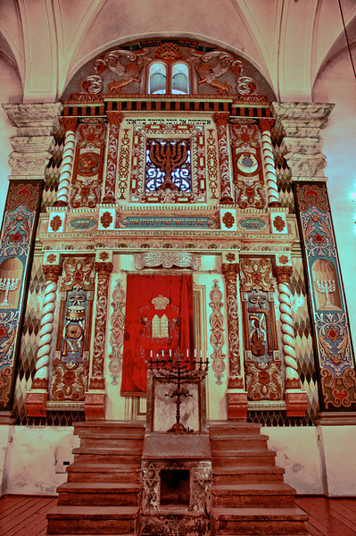 The Torah Ark in the Włodawa Great Synagogue