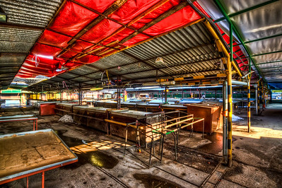 Market  HDR photo of the Main Market in Bratislava, during off hours. It was absolutely empty. I was trying out my new wide angle, 10-20 lens. Shot with a Canon 450D, created from three shots at -2,0 and +2 EV