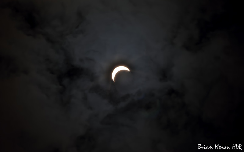 Clouds during the Solar Eclipse on August 21, 2017