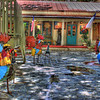 "This photo was taken of a shop in La Villita, located in San Antonio, Texas. According to the map of La Villita, this is the shop for the ""Monte Wade Fine Arts Gallery"". The multi-colored statues (and fresh rain) I think make this shot really stand out."