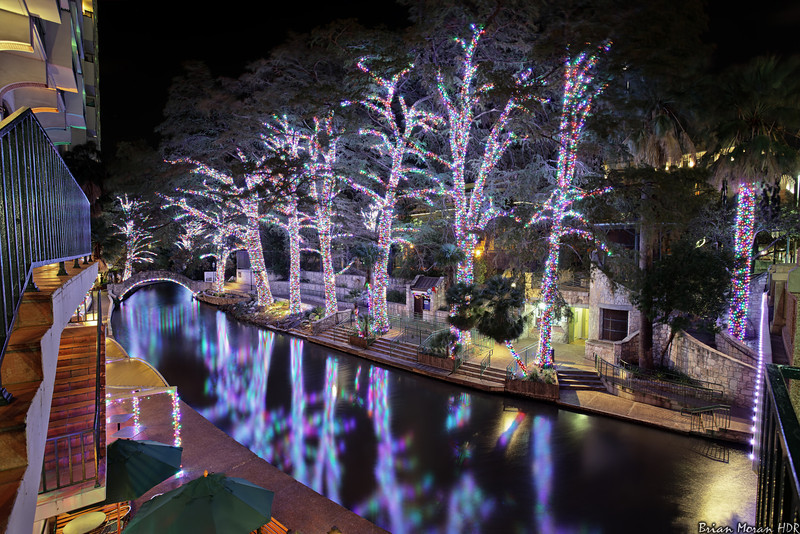 "Riverwalk Christmas lights as seen from the Market Street Bridge, looking south, in San Antonio, Texas.<br /> <br /> If you would like to read more about this photo, please visit my blog post:<br /> <br /> <br />  <a href=""http://brianmoranhdr.blogspot.com/2011/11/riverwalk-christmas-lights-ii.html"">http://brianmoranhdr.blogspot.com/2011/11/riverwalk-christmas-lights-ii.html</a>"