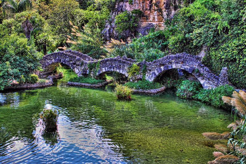 Dragon Bridge, Japanese Tea Garden, Brackenridge Park, San Antonio, Texas