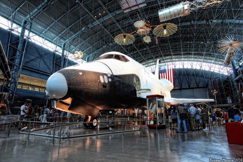"""The space shuttle """"Enterprise"""" on display at the Smithsonian Air and Space Musem's Udvar-Hazy Center, located near Chantilly, Virginia.<br /> <br /> If you would like to read more about this photo, please visit my blog post:<br /> <br /> <br />  <a href=""""http://brianmoranhdr.blogspot.com/2011/07/enterprise.html"""">http://brianmoranhdr.blogspot.com/2011/07/enterprise.html</a>"""