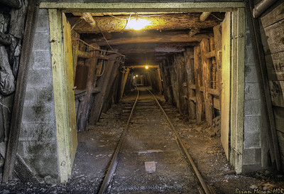 The entrance to the Pioneer Tunnel Coal Mine tour at the Pioneer Tunnel Coal Mine & Steam Train, located in Ashland, Pennsylvania.  If you would like to read more about this photo, please visit my blog post:   http://brianmoranhdr.blogspot.com/2012/11/pioneer-tunnel-coal-mine-tour.html