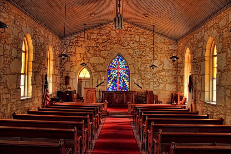 Inside the Little Church, located in La Villita, San Antonio, Texas