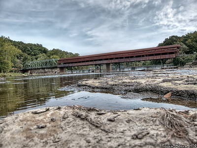 The Harpersfield Covered Bridge in western Ashtabula County, Ohio.  If you would like to read more about this photo, please visit my blog post:   http://brianmoranhdr.blogspot.com/2012/09/harpersfield-covered-bridge.html