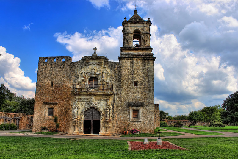 This photo is the exterior of Mission San Jose, located in San Antonio, Texas