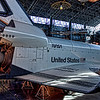 The NASA Space Shuttle Enterprise, on display at the Steven F. Udvar-Hazy Center, Smithsonian Air and Space Museum.