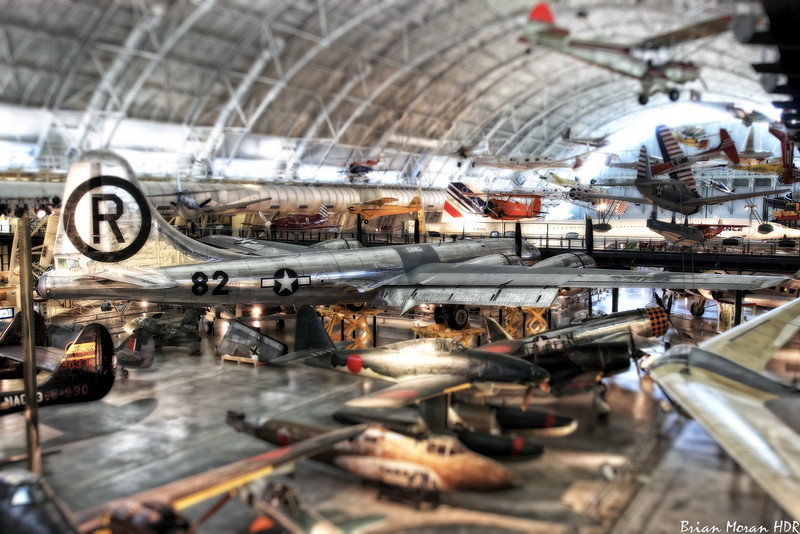 """B-29 Bomber """"Enola Gay"""" at the Steven F. Udvar-Hazy Center, Smithsonian Air and Space Museum, Dulles International Airport.<br /> <br /> For more on this photo, please visit my blog post:<br /> <br /> <br />  <a href=""""http://brianmoranhdr.blogspot.com/2011/01/enola-gay.html"""">http://brianmoranhdr.blogspot.com/2011/01/enola-gay.html</a>"""