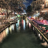 "The view from a bridge crossing the Riverwalk in San Antonio, Texas.<br /> <br /> For more on this photo please visit my blog post:<br /> <br /> <br />  <a href=""http://brianmoranhdr.blogspot.com/2011/03/another-night-on-riverwalk.html"">http://brianmoranhdr.blogspot.com/2011/03/another-night-on-riverwalk.html</a>"