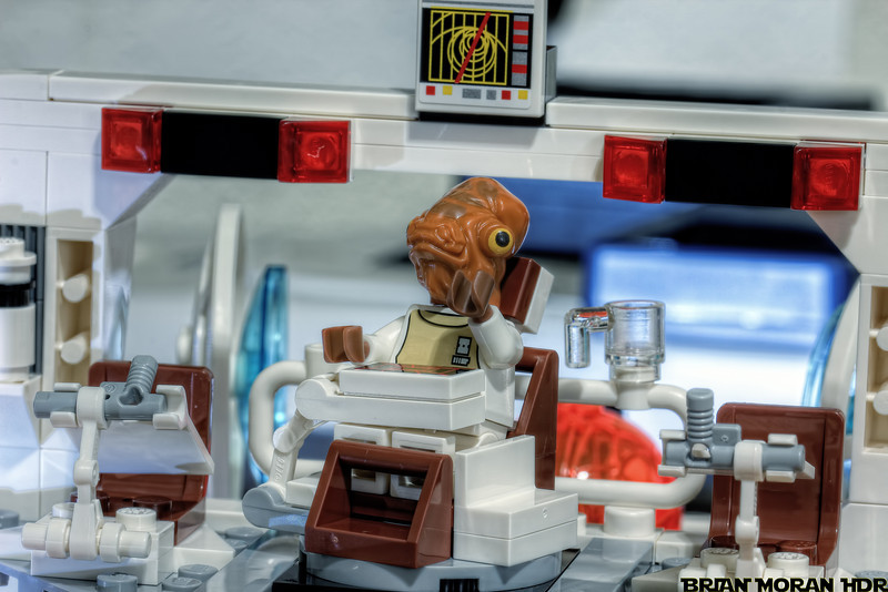 "Admiral Ackbar, aboard the Mon Calamari Star Cruiser ""Home One"", suddenly realizing that ""It's a Trap!""<br /> <br /> If you would like to read more about this photo, please visit my blog post:<br /> <br /> <br />  <a href=""http://brianmoranhdr.blogspot.com/2011/05/its-trap.html"">http://brianmoranhdr.blogspot.com/2011/05/its-trap.html</a>"