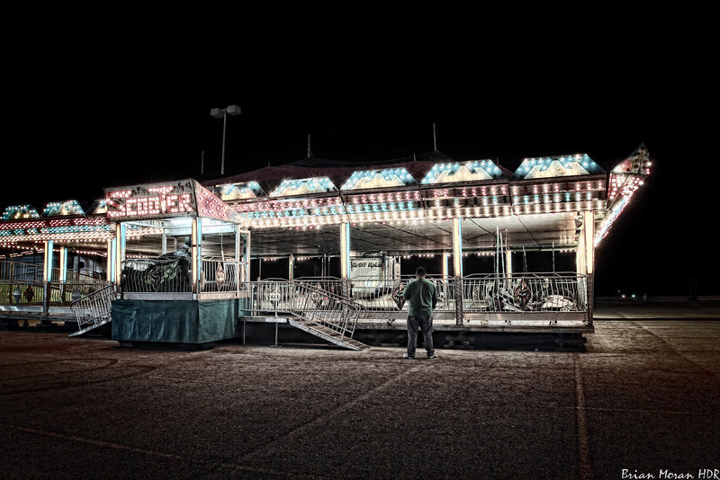 """The bumper car ride, named """"Scooter"""", at a small roadside carnival near Marbach Road and Loop 410 in San Antonio, Texas.<br /> <br /> For more on this photo, please visit my blog post:<br /> <br /> <br />  <a href=""""http://brianmoranhdr.blogspot.com/2011/01/scooter.html"""">http://brianmoranhdr.blogspot.com/2011/01/scooter.html</a>"""